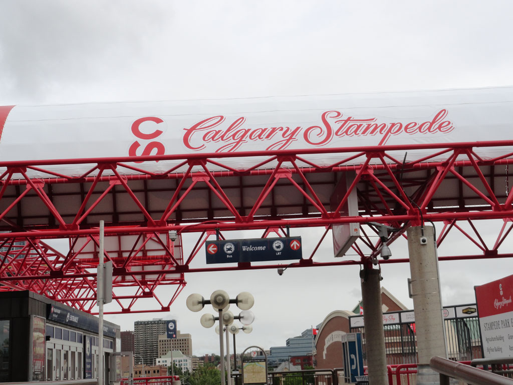 Calgary Stampede C Train Station Western Tent