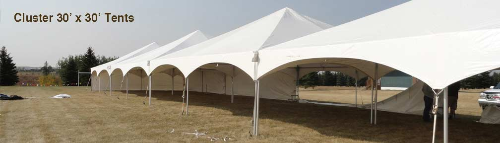 30 x 30 Tent Rentings Clusters