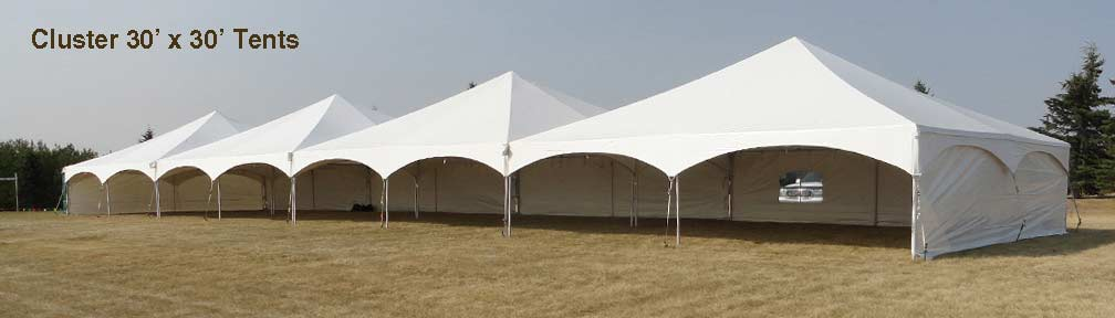 30 x 30 Tent Rentals Cluster
