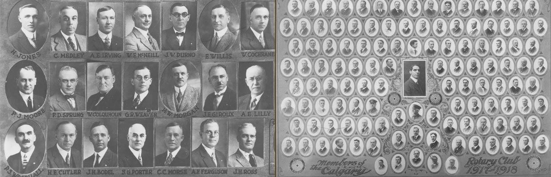 1918 Calgary Rotory Club members